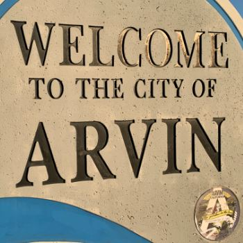 Welcome to the city of Arving sign